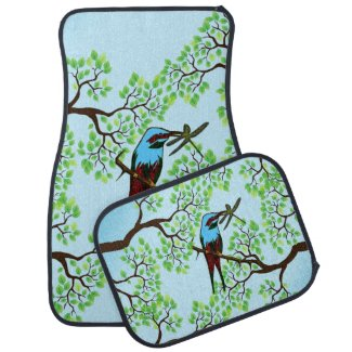 Blue Bird in Trees