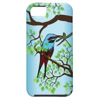 Blue Bird in Trees Case-Mate iPhone Case