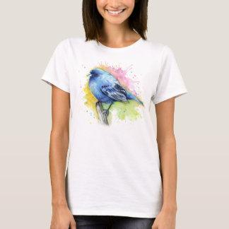 Blue Bird Indigo Bunting Watercolor Shirt