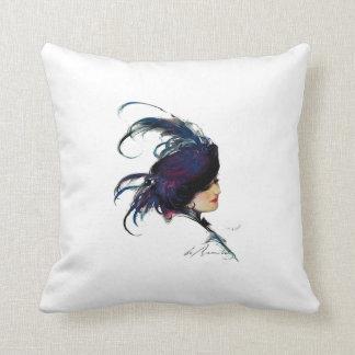 Blue-bird Lady Pillow