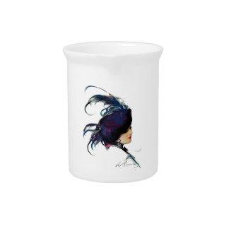 Blue-bird Lady Drink Pitchers