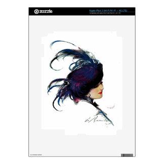 Blue-bird Lady Skin For iPad 3