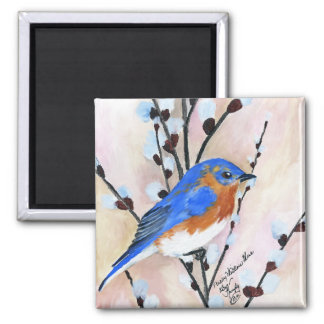 blue bird fridge magnets