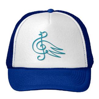 Blue bird music hat