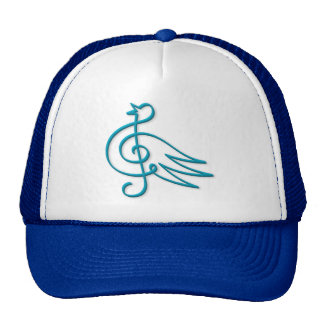 Blue bird music trucker hat