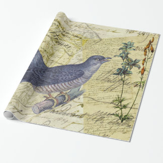 Blue Bird of Happiness Wrapping Paper