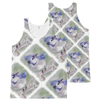 BLUE BIRD OF PARADISE All-Over PRINT TANK TOP