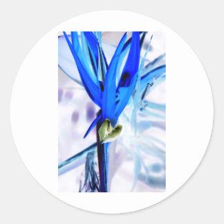 Blue Bird of Paradise Classic Round Sticker