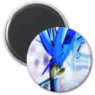 Blue Bird of Paradise Magnet