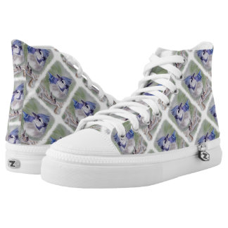 BLUE BIRD OF PARADISE PRINTED SHOES