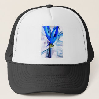 Blue Bird of Paradise Trucker Hat