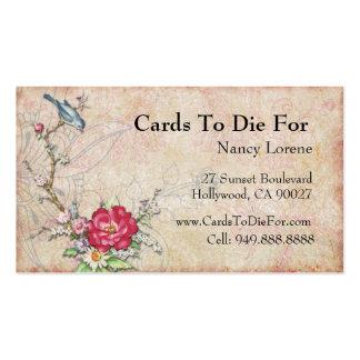 Blue Bird on a Branch Business Card Template