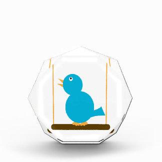 Blue Bird on a Perch Acrylic Decoration Award
