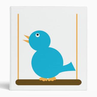 Blue Bird on a Perch Avery Binder