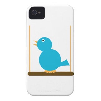 Blue Bird on a Perch Case