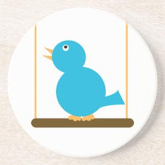 Blue Bird on a Perch Coaster