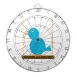 Blue Bird on a Perch Dartboard