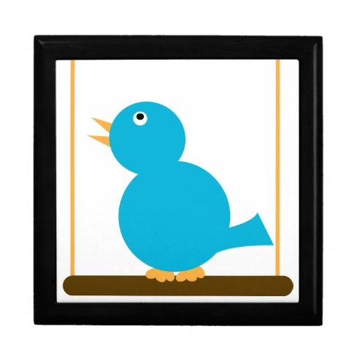 Blue Bird on a Perch giftbox Gift Boxes