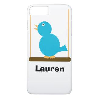 Blue Bird on a Perch iPhone 7 Plus Case
