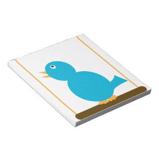 Blue Bird on a Perch Notepad