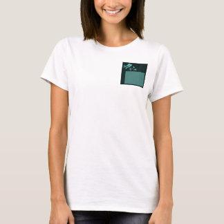 Blue Bird on Wood Grain T-Shirt