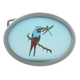 Blue Bird Oval Belt Buckle