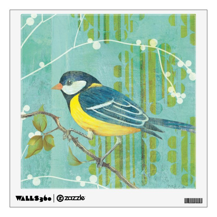 Blue Bird Perched on a Tree Wall Decal