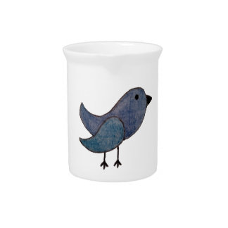 Blue Bird Pitcher