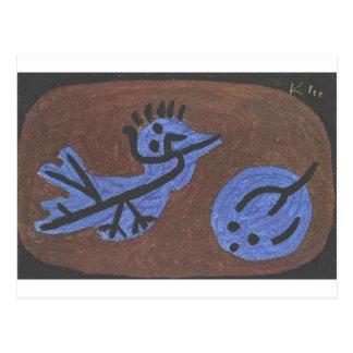 Blue bird pumpkin by Paul Klee Postcard