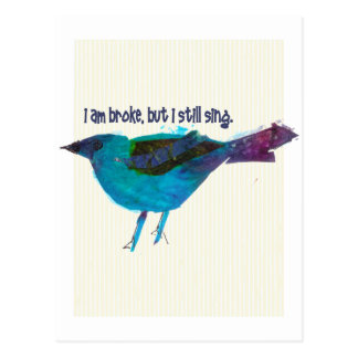 Blue Bird Recession Humor Postcard