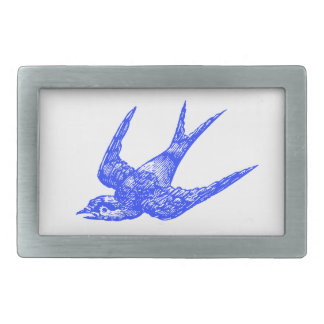 Blue Bird Rectangular Belt Buckle