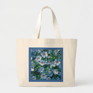 Blue Bird Rose of Sharon Eco-Friendly Grocery Tote