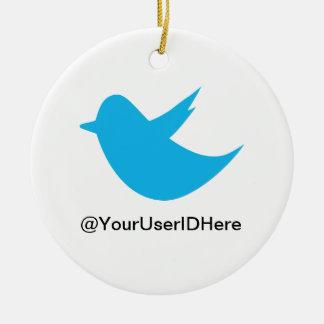 Blue Bird Social Media Ceramic Ornament