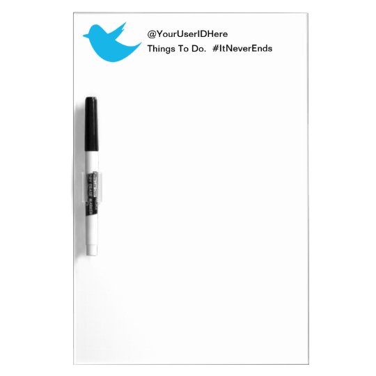 Blue Bird Social Media Dry Erase Board