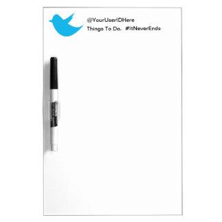 Blue Bird Social Media Dry-Erase Whiteboard