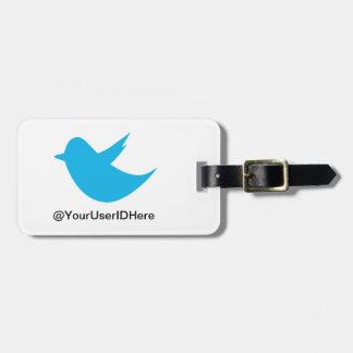 Blue Bird Social Media Luggage Tag