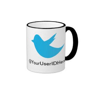 Blue Bird Social Media Ringer Coffee Mug