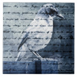 Blue Bird Song Ceramic Tile