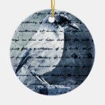 Blue Bird Song Christmas Ornaments