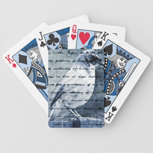 Blue Bird Song Playing Cards