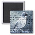 Blue Bird Song Refrigerator Magnet