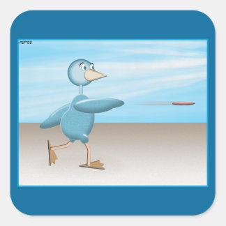 Blue Bird Square Sticker