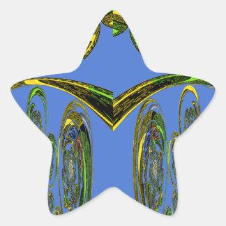 Blue bird star sticker