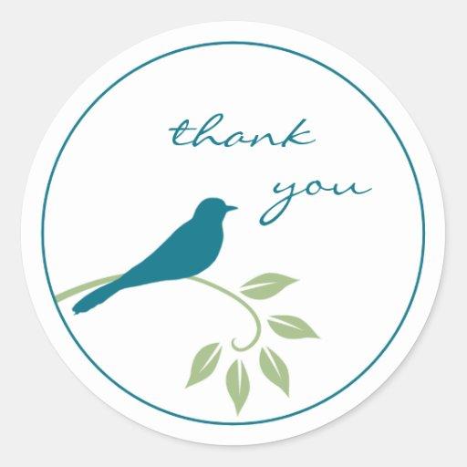 Blue Bird Sticker - Thank You