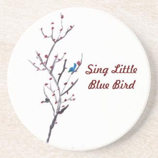 Blue Bird Tree Beverage Coasters
