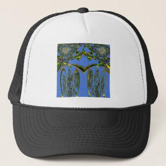 Blue bird trucker hat