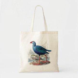 Blue bird vintage natural history illustration bag