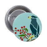 Blue Bird with Berries Buttons