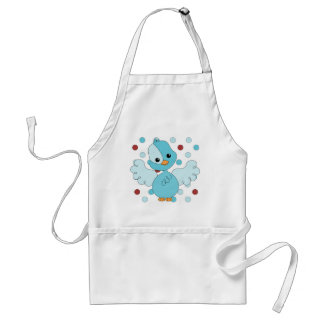Blue Bird with bigger Dotties! Adult Apron