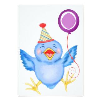 Blue Birdie Birthday Balloon Card